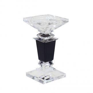 X110950 Crystal candlestick 9*9*16,5 cm