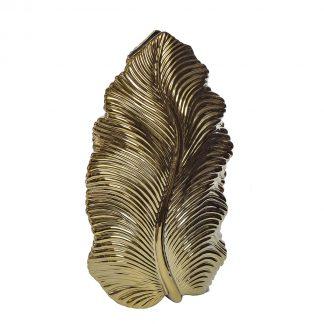 10K9125B Ceramic vase gold 25*12*44,5 cm