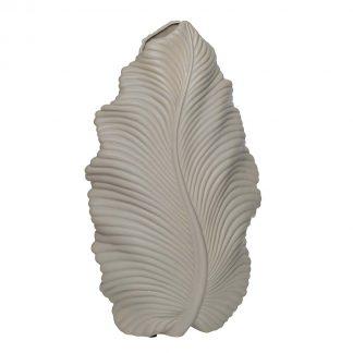 10K9125C Ceramic vase beige 21*11*39 cm