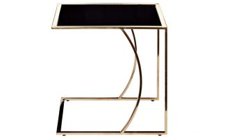 13RXNT5076L-GOLD Coffee table black/rose gold...