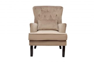 24Yj-7004-06413 / 1 Chair With Pillow Velor B...