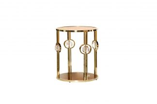 13Rxet6034-Gold Coffee Table Brown / Gold 50 ...