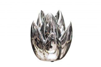 10K8152B Silver Candlestick 13 * 13 * 19.5