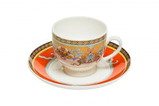 26Fc-Tiffany Coffee cup with saucer 100 ml (6...