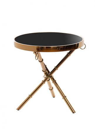 13Rx6035-Gold Coffee Table Black / Rose Gold ...