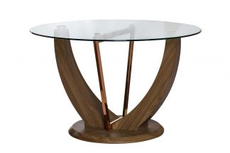 30F-908 Dining Table With Glass Beige D122 * ...