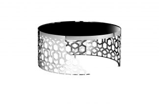 13RXCT8012-SILVER Coffee Table black/silver d...