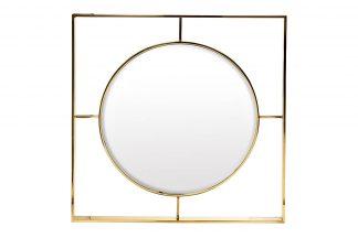19-Oa-5892 Gold Mirror 80X80 Cm