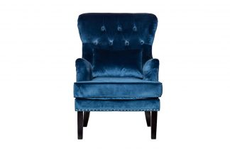 24Yj-7004-06466 / 1 Chair With Pillow Velor B...