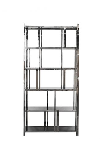 13Rxsh3052-Silver Shelving glass black/silver...