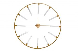 19-OA-6157 Wall clock round gold d91 cm