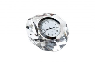 C80591 Table clock silver 8*8*4 cm