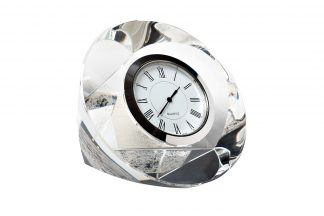 C80721 Table clock silver 10*10*4 cm