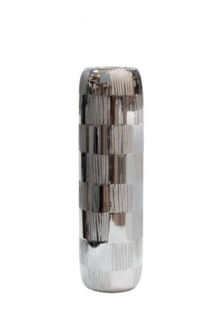 18H3619S-15 Silver Vase 14.5 * 14.5 * 50