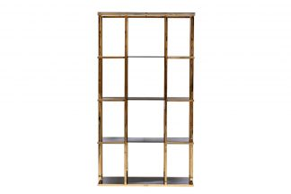46AS-SH1537-GOLD Shelving golden/black 100*40...