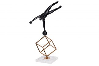 "55Rd2863 Figurine ""Gymnast On The Cube-..."