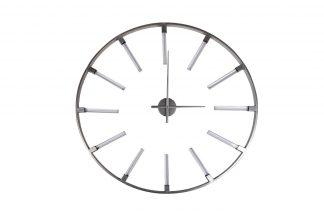 19-OA-6157SL Wall clock round silver d91 cm