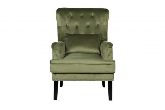 24Yj-7004-040 Chair With A Pillow Velor Light...