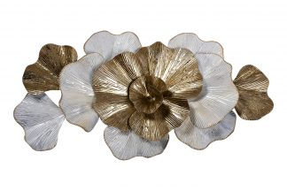 """37Sm-0659 Wall Decor """"Flowers"""" Wh..."""