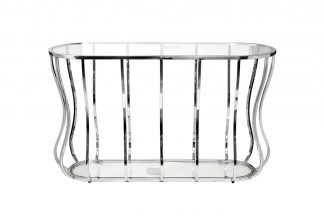 13Rxc4035-Silver Console Glass Translucent / ...