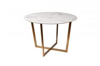 33Fs-Dt3022-Bbs Dining Table Round Pearl Whit...