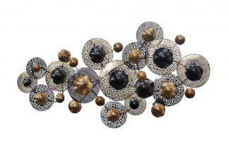 37Sm-0375-R Wall Decor Flowers Black And Gold...