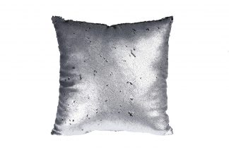 Ash507010 Pillow with sequins silver/black 45...