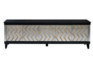 ART-1973-TV TV-stand with natural stone workt...