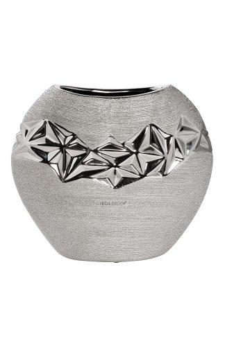 18H2816L-19 Vase silver 12*11*22 cm