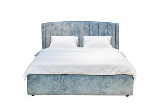 Odry Bed With A Lifting Mechanism, Velor Turq...