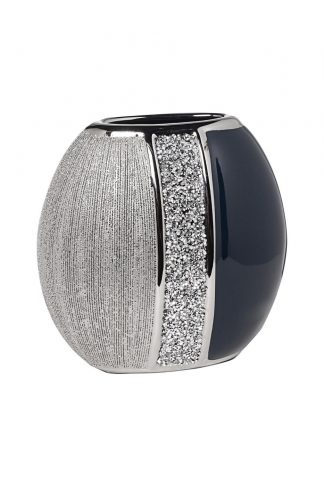 18H2659M-19 Vase Blue With Silver 20 * 11 * 1...