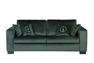 Ralph sofa three-seater folding, dark green B...