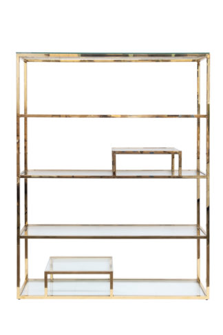 GY-SH8005GOLD Shelving unit with transparent ...