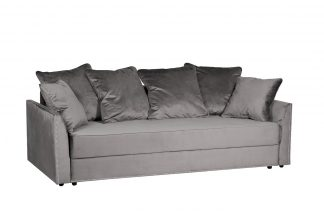 Mores sofa with three seats folding, velor gr...