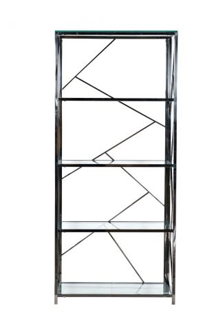 Gy-Sh8711Bl Shelving Glass Clear / Dark Chrom...
