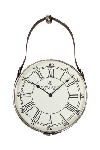 79Mal-5673-70Ni Wall Clock With Suspension Ch...