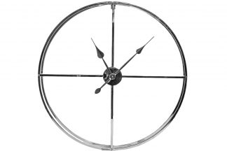 79Mal-5761-76Ni Round wall clock (chrome) d76...