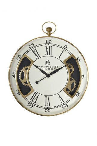 79Mal-5316-76G Wall Clock White / Gold D76Cm