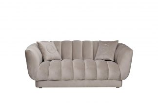 Sofa Fabio Double, Velor, Beige Gray. Bel03 1...