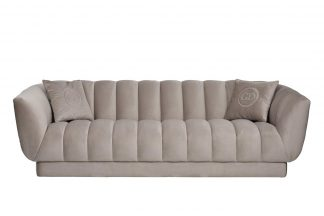 Sofa Fabio Triple, Velor, Beige Gray. Bel03 2...