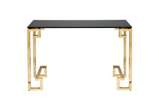13Rxc3049-Gold Console black glass / gold 120...