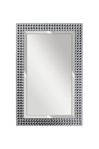50SX-19003/1 Rectangular mirror with cabochon...