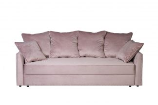 Mores Sofa Triple Folding, Velor Dusty Rose R...