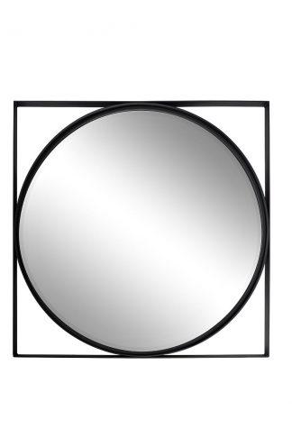 19-OA-6321 Mirror in black frame 81*81 cm