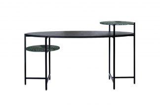 46As-D4196 Writing desk ebony/green marble 16...