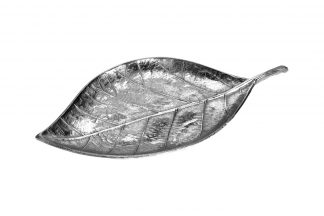 "A06561010 Plate Decor. ""Leaf"" Col..."