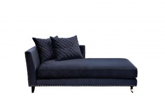 Couch Sorrento Right Velor Dark Blue. Bel18 1...