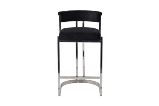GY-B8216-BL Bar stool black velour (chrome) 4...