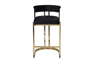 GY-B8216GOLD-BL Bar stool black velour (gold)...