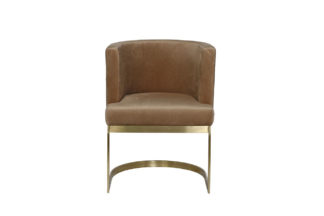 76AR-612GOLD-LBR Chair on a metal frame brown...
